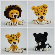 3 in 1 Häkel-Set: Klick jetzt und häkle mit nur einer Anleitung 3 Tiere. Löwe + Leopard + Panther freuen sich auf Dich. Trau Dich einfach mal + klick jetzt.