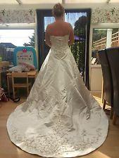 size 16 wedding gown ivory satin