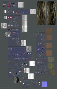 ArtStation - Redwood Bark Breakdown, Ben Wilson