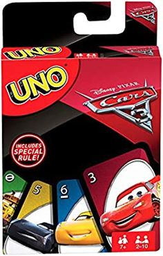 Amazon.com: UNO: Disney Pixar Cars 3 - Card Game: Toys & Games Kings Card Game, 3 Card Game, Disney Pixar Cars, Uno Cards, Cars Characters, Iconic Characters, Car Card, You Draw, All Toys