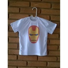 Camiseta Infantil Personalizada Herói Homem de Ferro