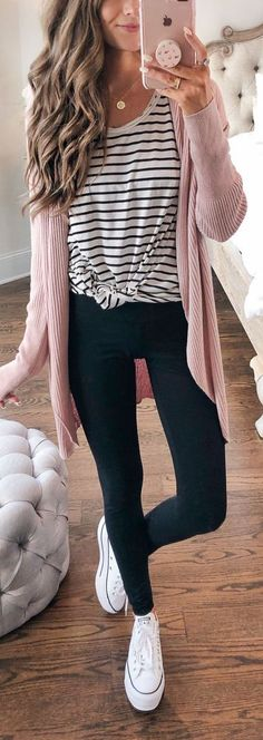 Style Spacez: 33 super cheap cardigan outfit ideas for autumn and winter . - Style Spacez: 33 super cheap cardigan outfit ideas for autumn and winter – 33 CHEAP FASHION OUTFI - Casual Fall Outfits, Fall Winter Outfits, Autumn Winter Fashion, Spring Outfits, Winter Style, Casual Summer, Casual Shopping Outfit, Black Jeans Outfit Casual, Cheap Fall Outfits