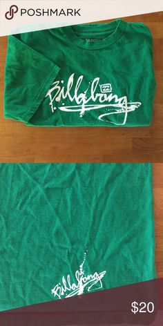 Men's Billabong t-shirt Color is a little darker than the photos show. A little wrinkly  but in otherwise great condition! Billabong Shirts Tees - Short Sleeve