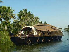 .A traditional Kettuvallom - the CGH Earth Spice Coast Cruises.  Kerala.  India.