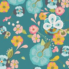 Emmy Grace by Bari J for Art Gallery Fabrics Floral Floats Fresh - Lady Belle Fabric