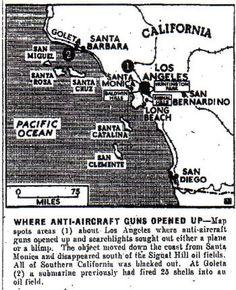 Mapa da época com todos os locais de onde mísseis foram disparados Milton Ribeiro Esta matéria está categorizada como Cultura, apesar de referir-se a uma histórica batalha travada em Los Angeles durante a 2ª Guerra Mundial e que teve seis mortos — três por estilhaços e três por ataque cardíaco. A razão para tal classificação é sua estranheza; afina
