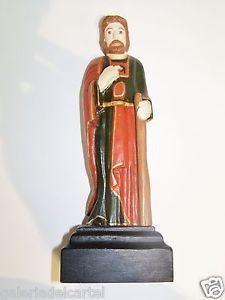 """San Judas Tadeo"""" Lajas Puerto Rico Carved Wood Santo Folk Art RARE ..."""