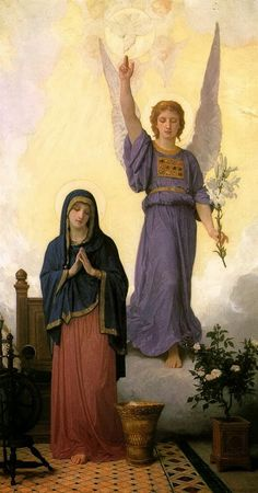 Annunciation by William Adolphe Bouguereau, 1888