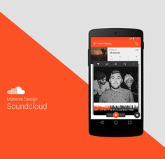 Soundcloud Material Design on Behance User Interface Design, Ui Ux Design, Android Design, Material Design, Digital, Mobile Ui, Experiment, Behance, Ui Design