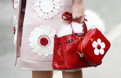 Hermès  Prada bags.