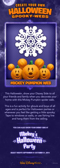 Create your own Halloween Spooky-Webs! #NotSoScary #waltdisneyworld  www.facebook.com/kjocoaching