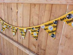Handmade Reusable Pittsburgh Steelers fabric by ManCaveQuilts1