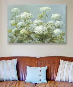 Look at this #zulilyfind! Danhui Nai White Hydrangea Garden Gallery-Wrapped Canvas #zulilyfinds