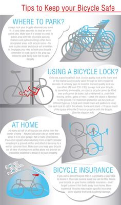 Want to keep your bike safe? Follow this easy steps and it will be fine! #infographic #bike #bicycle #cycling #keepcycling #bikesafe #criterium