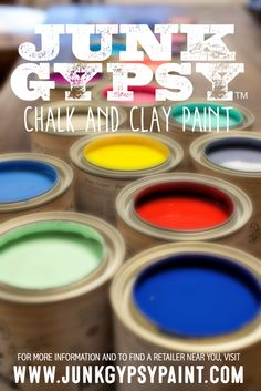 Junk Gypsy™ Paint is an American-made chalk and clay paint perfect for painting and repurposing your junk finds.