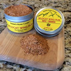 This spicy wing rub is made with Arizona Habanero Chili Powder and pure Vermont maple sugar from http://www.papajohnssugarshack.com.