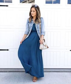 Modest Dresses - weddings and bridesmaids Modest Summer Fashion, Summer Fashion Outfits, Women's Fashion Dresses, Spring Outfits, Skirt Fashion, Modest Long Skirts, Modest Maxi Dress, Maxi Dresses, Jw Moda