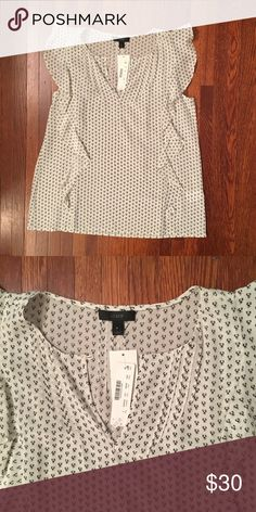 NWT J.Crew silk top Great neutral top to wear alone or under a blazer J. Crew Tops Blouses