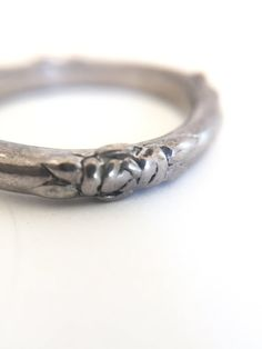 SOLD Vintage Pewter Ring Roses Eternity Band Size 6 by VintageRenude