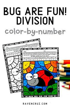 These division worksheets are a concrete way for students to practice division fact fluency. Use the division color by number worksheets for math centers, rotations, good behavior, etc... #mathwithraven #homeschool #3rdgrade #4thgrade Math Resources, Math Activities, Multiplication Strategies, Common Core Math Standards, Fourth Grade Math, Number Worksheets, Homeschool Math, Elementary Math, Math Centers