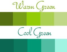 warm green cool green