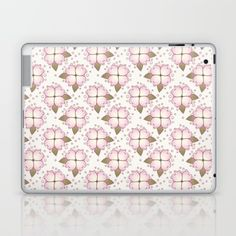 Skins are thin, easy-to-remove, vinyl decals for customizing your laptop . #homedecor #interiordesign #floral #pattern #floralpattern #flowers #pink #laptop #ipad #laptopskin