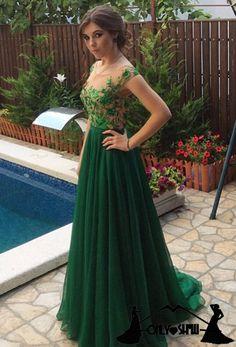Charming Prom Dress,Long Prom Dress,Chiffon Prom Dresses