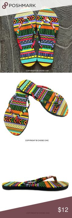 Tribal Aztec Print Women Flip Flops,Women Slippers A pair of brand new Women flip flops. Available  sizes: US 36-40. Please contact us to confirm your shoe size prior making your purchase.  PRODUCT INFO - 100% cotton print fabric insoles - Flexible EVA outsole   SIZE & FIT - Slim style - Size Chart is included in the photo album above (last image) - Fits true to size, take your normal size - Those with wide feet may wish to take the next half size up - Only available in full sizes, go up to…