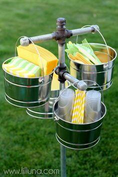 Backyard bbq party beverage stations 55 Ideas - MY World Party Hacks, Party Ideas, Bbq Ideas, Game Ideas, Food Ideas, Outdoor Party Games, Outdoor Parties, Outdoor Entertaining, Backyard Parties