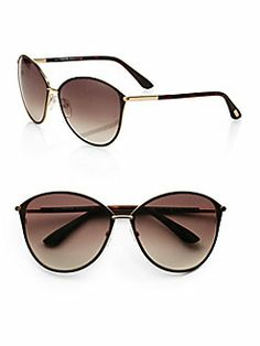 Tom Ford Eyewear - Penelope Metal Cat's-Eye Sunglasses