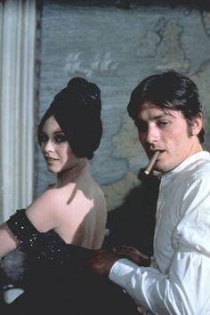 Brigitte Bardot & Alain Delon on the set of 'Spirits of the Dead', 1967