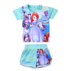 Super Cute NEW 2016 Little Girl's Popular Characters 2-PC Bathing Suit 4 Styles 3T-7