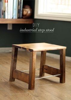 Free DIY Furniture Project Plan: Learn How to Build an Industrial Step Stool