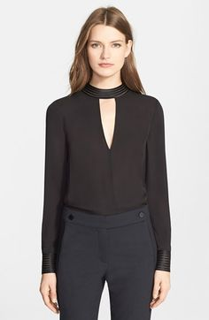 Veronica Beard 'Bolton' Tie Back Silk Blouse available at #Nordstrom