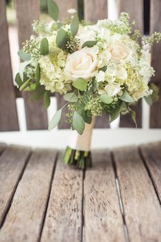 White Wedding Bouquet - PHOTO SOURCE • JOPHOTO | Featured on WedLoft