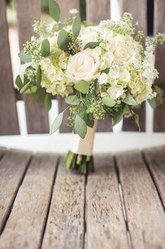 White Wedding Bouquet - PHOTO SOURCE • JOPHOTO | Featured on WedLoft