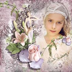 """""""Miss Spring"""" by DOUDOU'S DESIGN, With Geneviève Geerts. Foto Mily fotografie. ©InadigitalArt2016 http://www.oscraps.com/shop/Miss-Spring-Full-Kit.html https://www.mymemories.com/store/display_product_page…"""