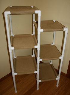 The 5 Tier Cat Condo, Heavy Duty Cordura Fabric could diy cheaper Diy Cat Hammock, Baby Hammock, Diy Cat Tower, Pvc Pipe Projects, Diy Dog Bed, Dog Beds, Cat Room, Cat Condo, Idee Diy