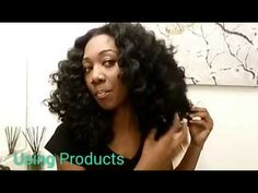 How to: Creating Big Wand Curls on Marley Hair - YouTube