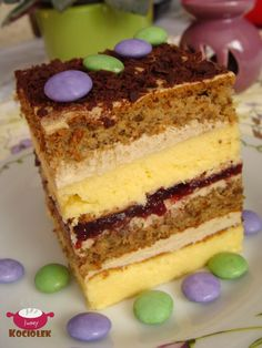 Polish Desserts, Polish Recipes, No Bake Desserts, Polish Food, Pastry Recipes, Cake Recipes, Dessert Recipes, Cooking Recipes, Delicious Deserts