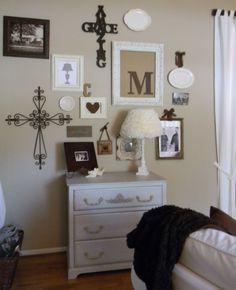 like the wall arrangement and especially like  the Amazing Grace cross @Kelsey Jackson