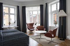 Arne Jacobsen room in Hotel Alexandria, Copenhagen