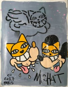 alt Street Art, Art En Ligne, Oeuvre D'art, Alter, Les Oeuvres, Graffiti, Cats, Painting Styles, Contemporary Art