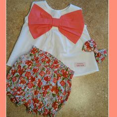 peach girl outfits coral outfitfloral outfitspring by babyzual