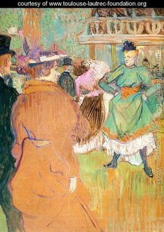 The Beginning of the Quadrille at the Moulin Rouge 1892    Henri De Toulouse-Lautrec