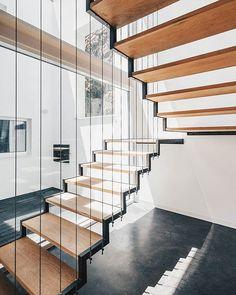 Perfect staircase 🤗 • #allofarchitecture • House JA by Filipe Pina