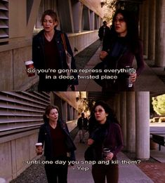 Grey's Anatomy - Meredith Grey and Cristina Yang. After a few nights that izzy and George lived with Meredith Greys Anatomy Funny, Greys Anatomy Facts, Grey Anatomy Quotes, Greys Anatomy Season 1, Greys Anatomy Scrubs, Grays Anatomy, Grey Quotes, Tv Quotes, Movie Quotes