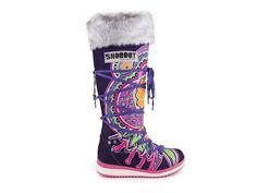 Snoboot - Luxusní módní sněhule Mutant High Tattoo Colour / fialová