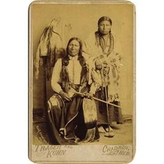 SIOUX CHIEF AMERICAN HORSE & SQUAW