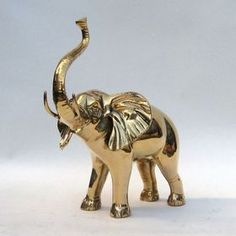 India Overseas Trading BR6076 Solid Brass Elephant Statue, Price/Each
